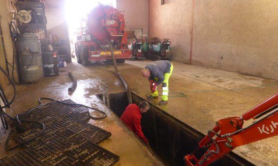 Pompage fosse d'inspection
